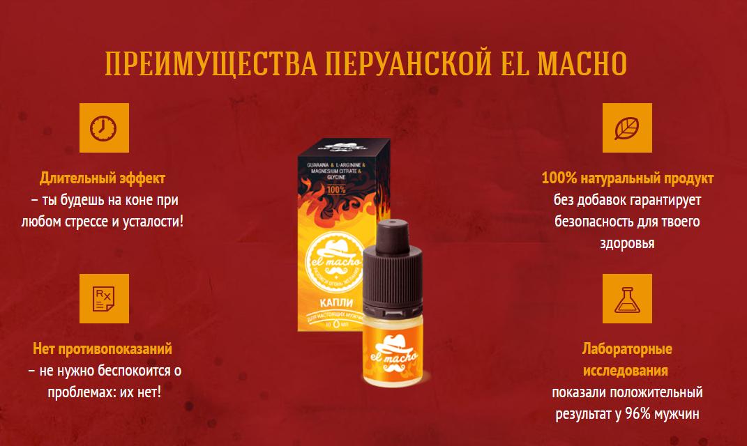El-Macho - мужские капли: отзывы реальных покупателей и специалистов